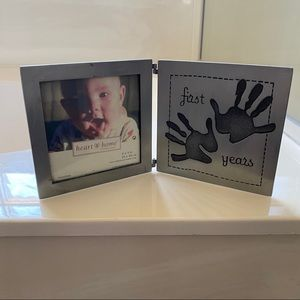 NWOT Heart & Home First Years Hinged Picture Frame